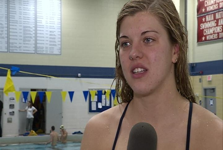 UWEC's Sam Senczyszyn currently holds the National Record in the 200 Breaststroke