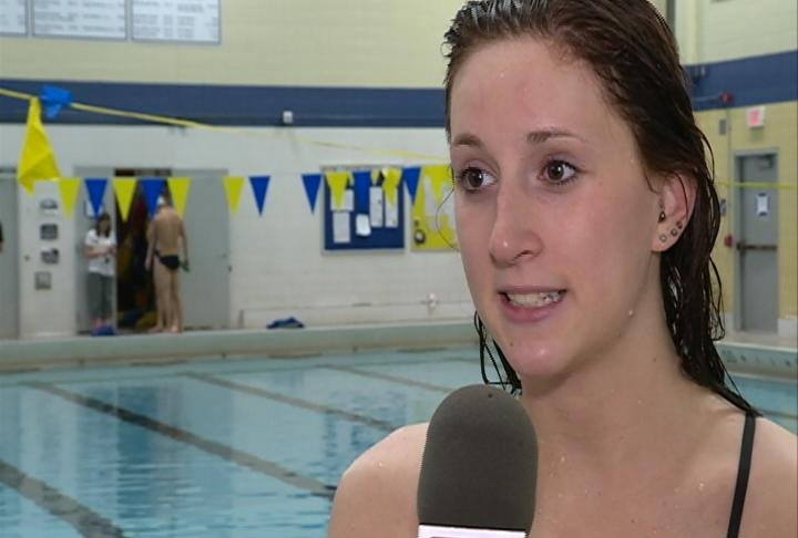 UWEC's Jessica Short qualified in 3 events and will lead off both Medley Relays