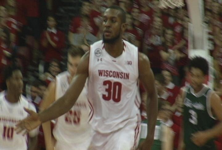 Vitto Brown leads Wisconsin with 12 points