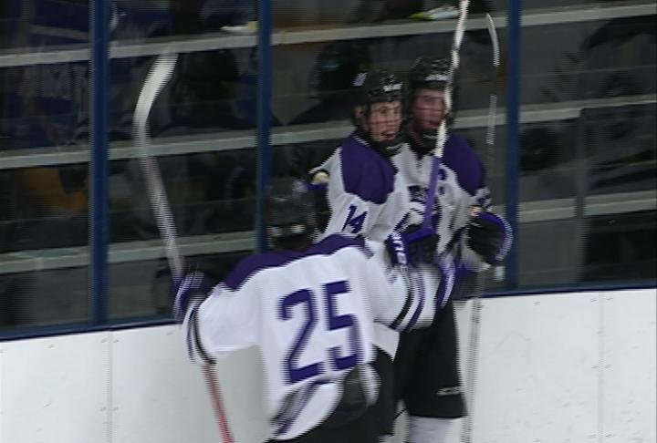 Dawson Schwengler's 2nd period goal pulls Memorial within a goal, but the Old Abes still fall