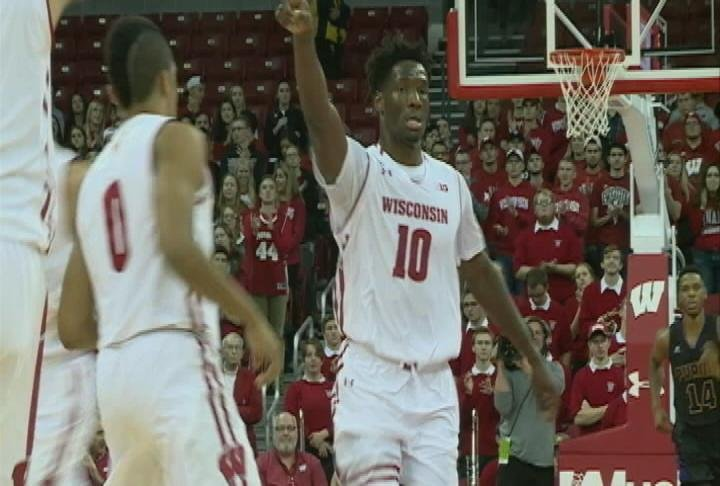 Nigel Hayes redeems himself with a season high 17 point performance