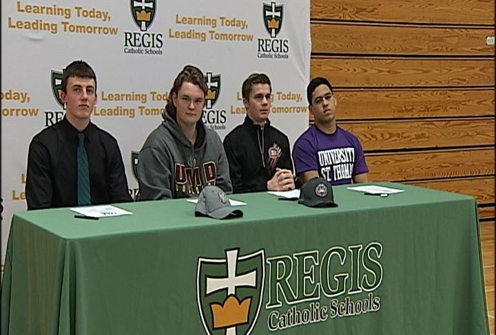 Four Regis Ramblers plan to play in college