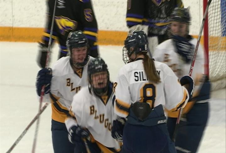 Kelly Knetter nets the Game Winner for the Blugolds as they take down Stevens Point