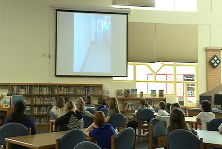 Amery students speak with Amory, MS leaders