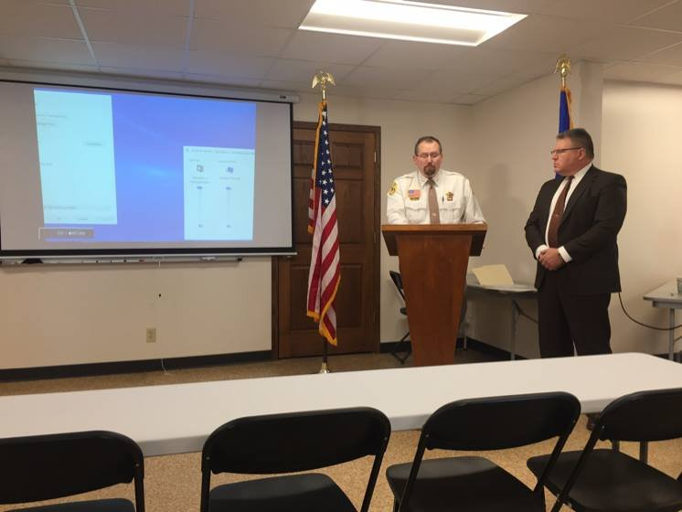 Left to Right: Jackson Co. Sheriff Duane Waldera (Left), Jackson Co. District Attorney Gerald Fox (Right) at a news briefing in March 2017.