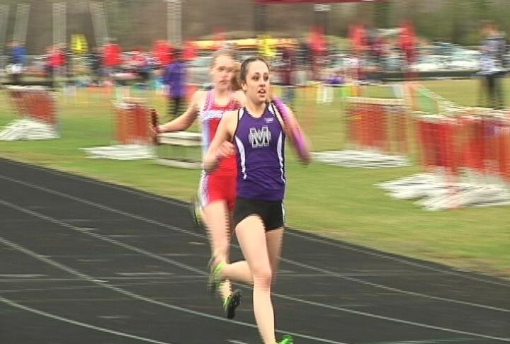 Ruth Konzen anchors EC Memorial to a win in the 4 x 100 relay