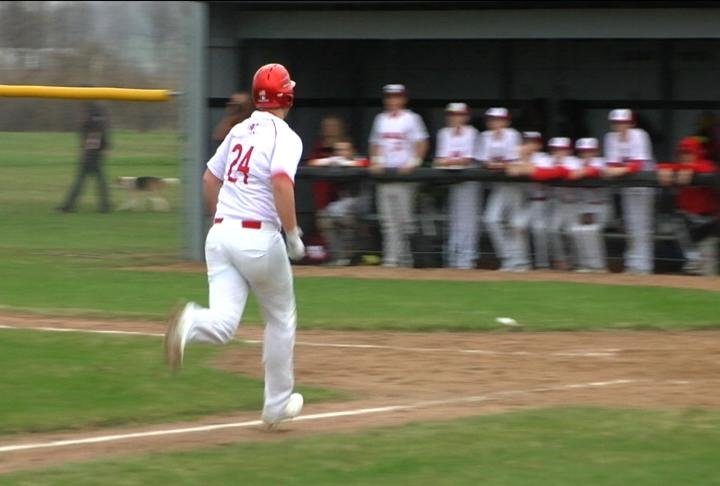Dylan Sahm scores in a big 5th inning, as the Rails roll