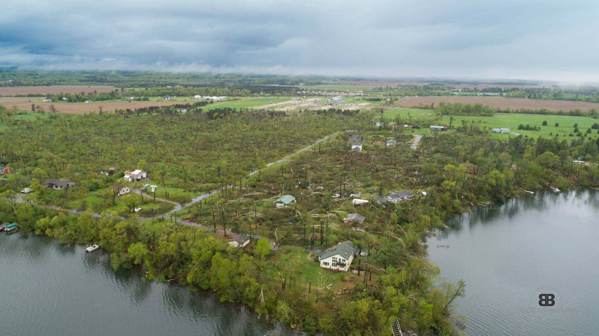 Drone captures stunning footage of deadly Wisconsin tornado