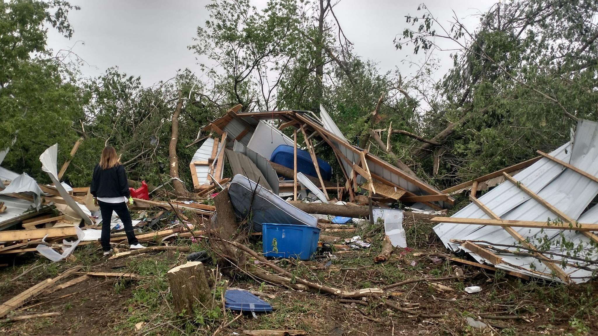 Damage of Prairie Lake Estates near Chetek, Courtesy: Devin Feuerhelm