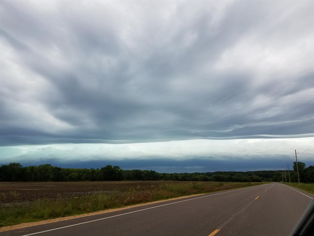 Courtesy: Yvonne Fredrickson, east of Arkansaw, Wis. Photo was taken around 3 p.m. Monday.