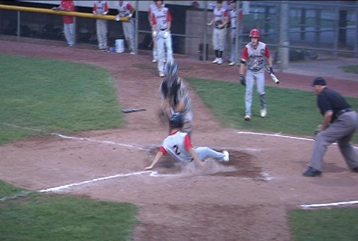 Donovan Adrian slides in with Altoona's 2nd run