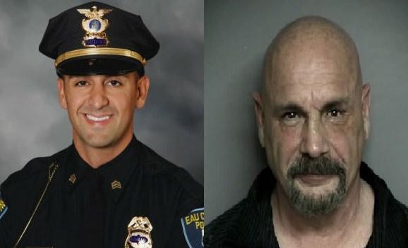 R to L: Sgt. Jesse Henning, Michael Caponigro (Courtesy: Eau Claire Police Dept.)