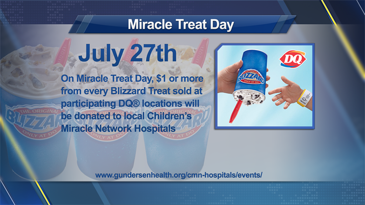 DQ to donate part of Thursday's sales to children's hospital