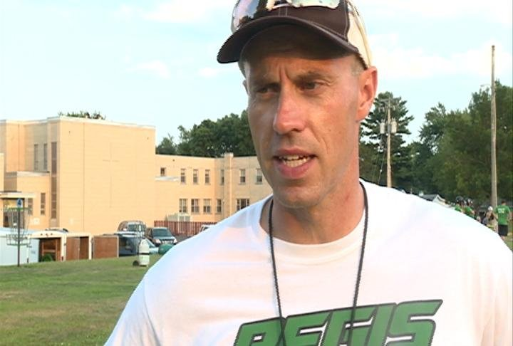 EC Regis head coach Bryant Brenner