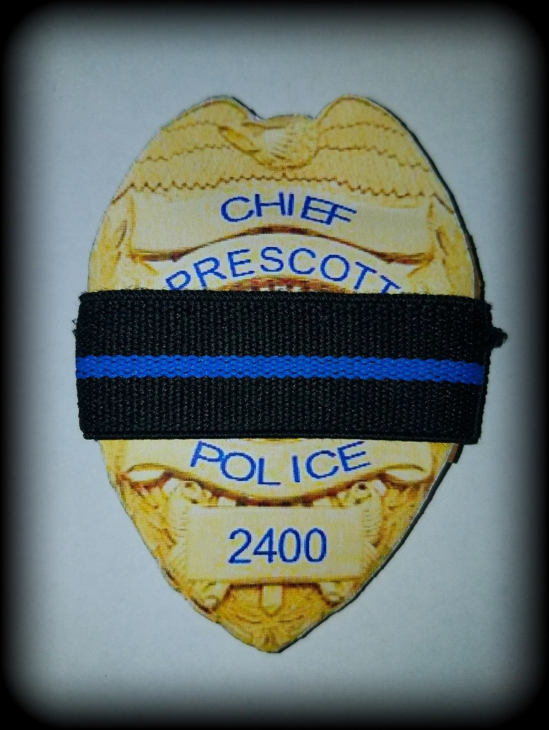 Prescott Police Chief Gary Martin Krutke's badge. Courtesy: Prescott Police Department