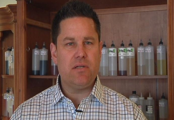 Photo dated March 8, 2014 when News 18 did an interview with Kyle Anderson at his business, E-Cig 53, in Eau Claire. Currently, authorities are searching for Anderson after witnesses reported seeing him swim from his boat just below the Wissota Hydro dam.