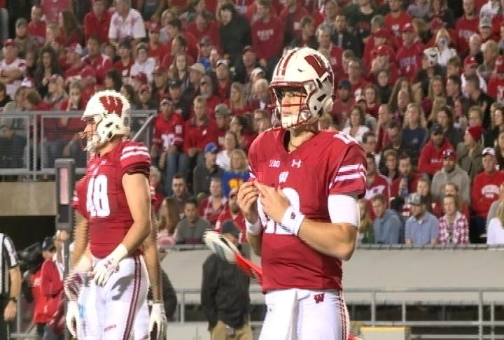 Hornibrook threw for a career high 244 yards and 3 TDs against Utah State