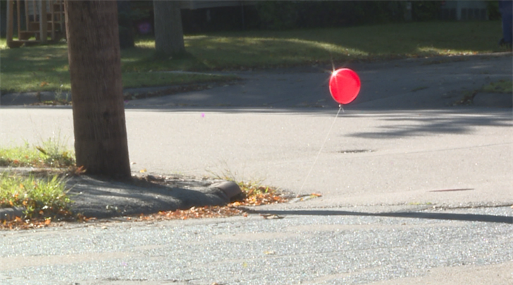 Red Balloon on Zimmerman St and Lake View Drive in Wausau