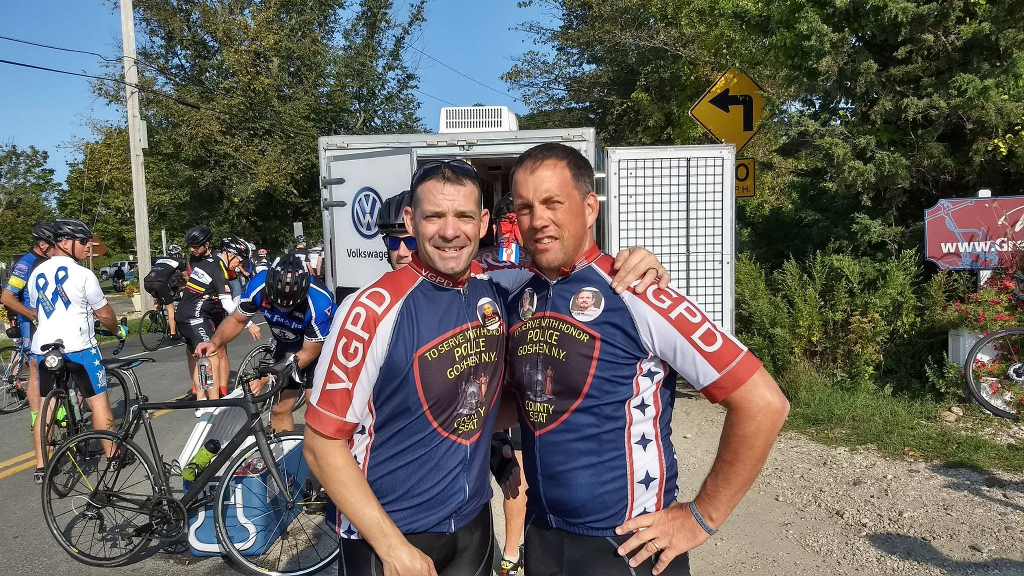 Eau Claire Officer Todd Johnson participated in the Tour De Force - 9/11 Memorial Bike Ride. Courtesy: Eau Claire Police Department