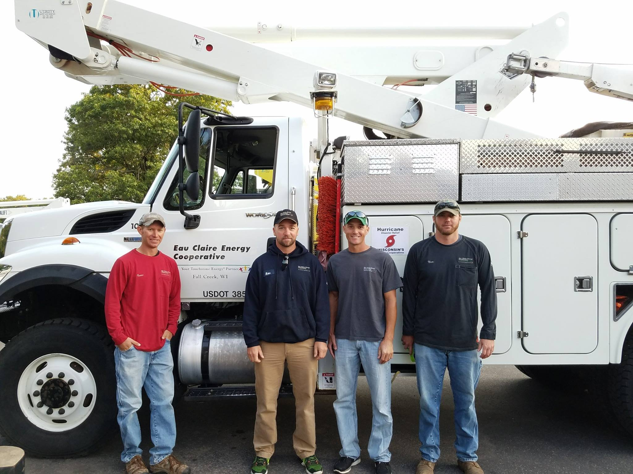 Eau Claire Energy Co-op's crew, (left to right) Issac, Kris, Josh and Nate. Courtesy: Eau Claire Energy Cooperative