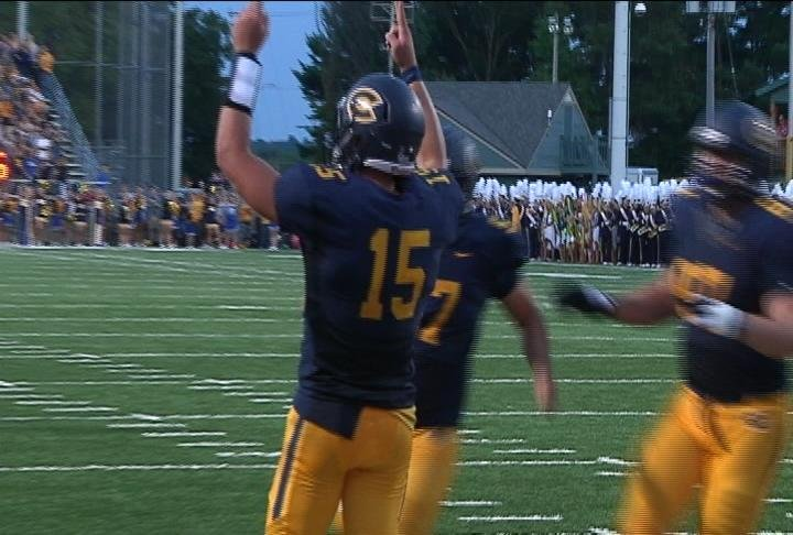 UWEC's JT Denhartog put up big stats in Saturday's win
