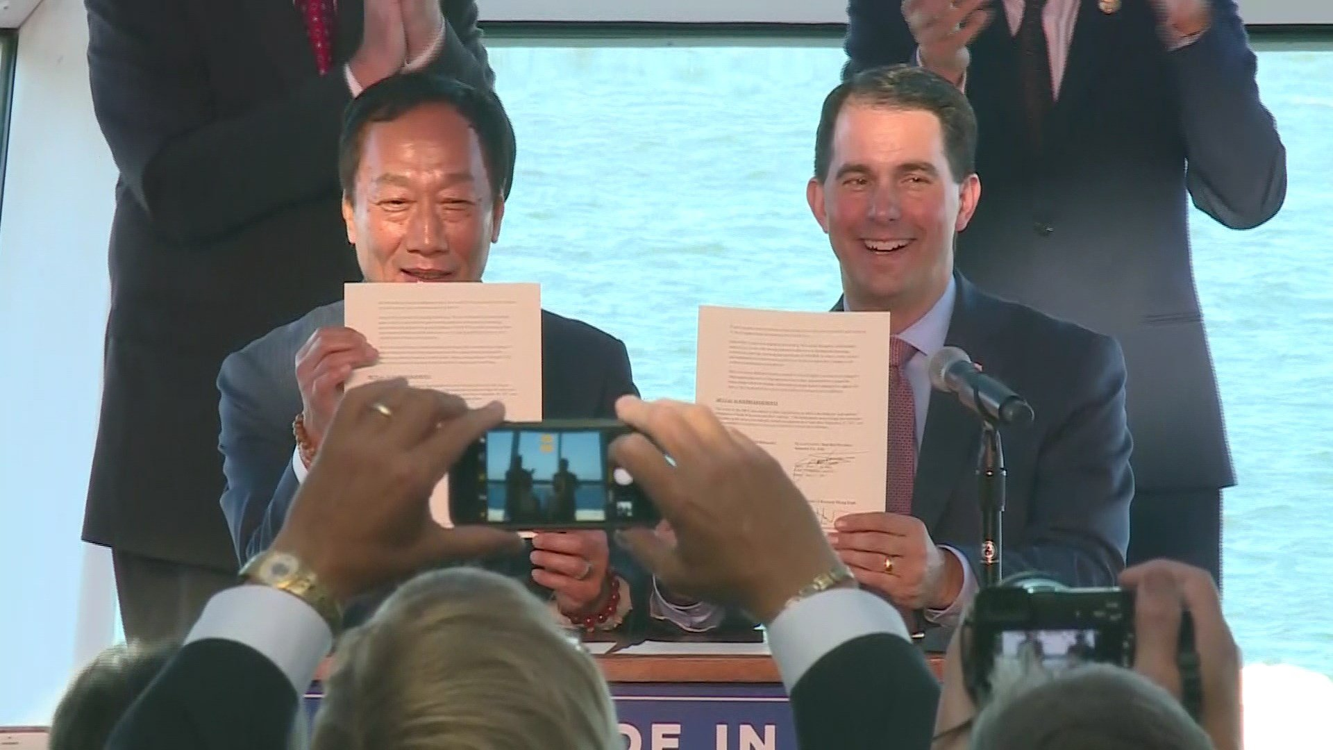 Walker signs $3B Foxconn package deal into law