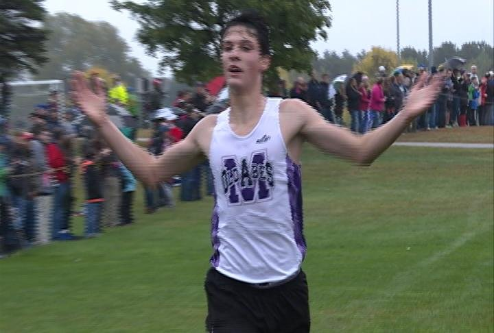 Eau Claire Memorial's Zak Sather wins the Old Abe Invitational
