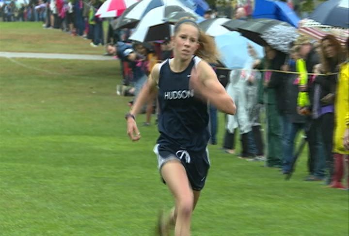 Hudson's Rachel Ball wins the girls race
