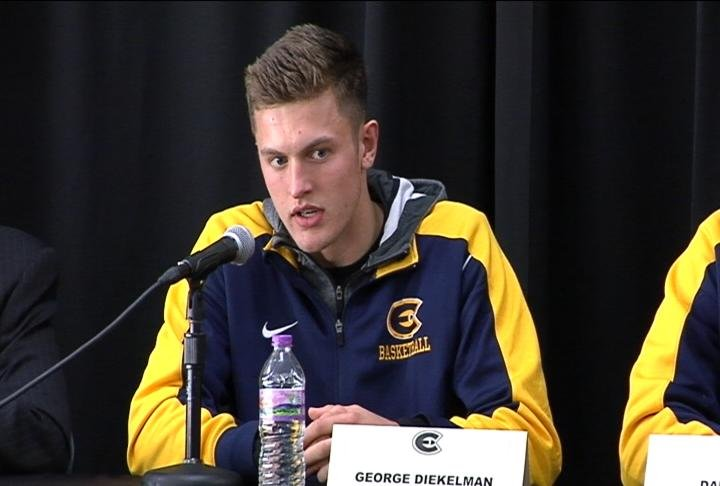 UWEC senior guard George Diekelman