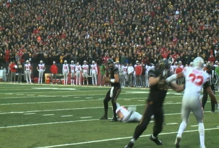 Nate Stanley tossed 5 TD passes vs. Ohio State, Saturday