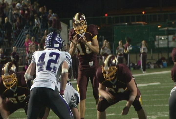 Nate Stanley quarterbacked Menomonie for 3 seasons (file photo)