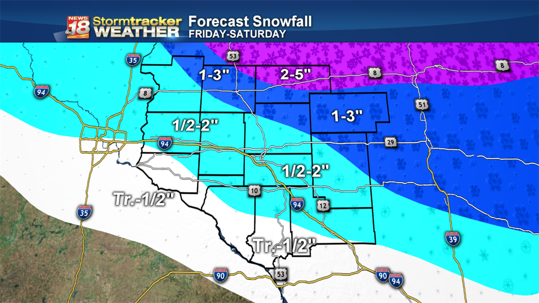 Heaviest snow totals expected in northern Wisconsin, with lesser accumulations across the Chippewa Valley