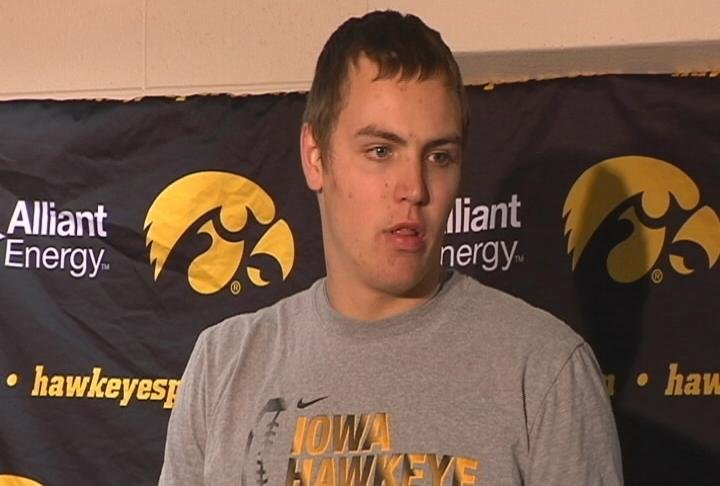 Iowa sophomore Nate Stanley