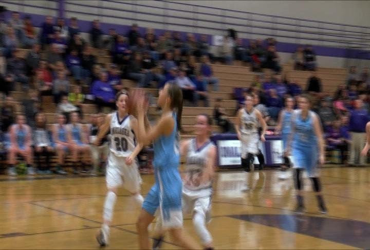 EC North's Maria Venne drives to the hoop