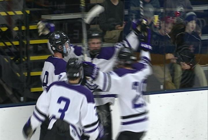 Brenden Olson scores in the 2nd period as Memorial tops Wausau West