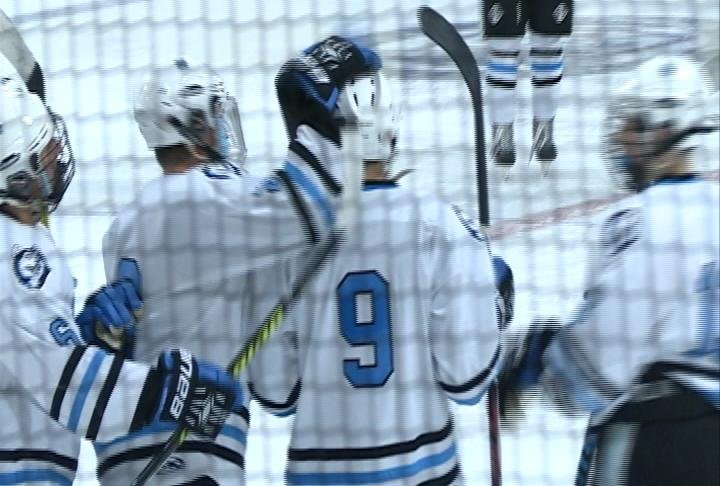 Sam Stange scores 4 goals for the Huskies as they roll past Madison West