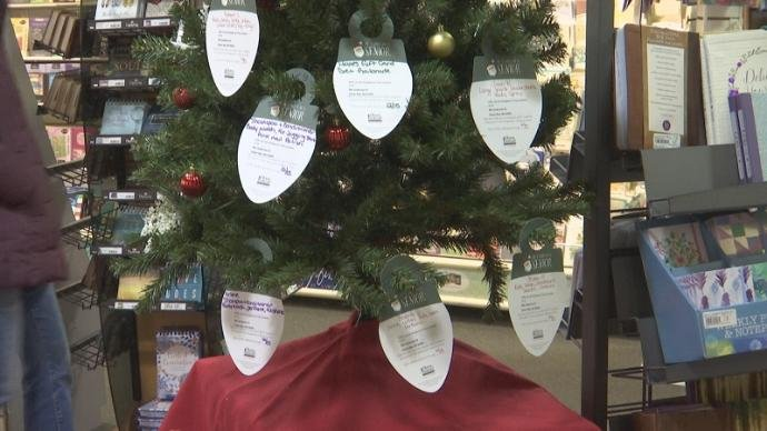 "The ""Gifting Tree"" inside Lighthouse Christian Books in Ashwaubenon"