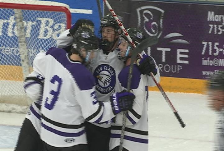 Ben Zacho scores his second goal of the game, as the Old Abes move to 4-0