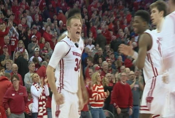 Brad Davison hits the game-winning free throw as Wisconsin survives