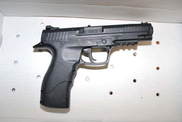 Gun showed by suspect