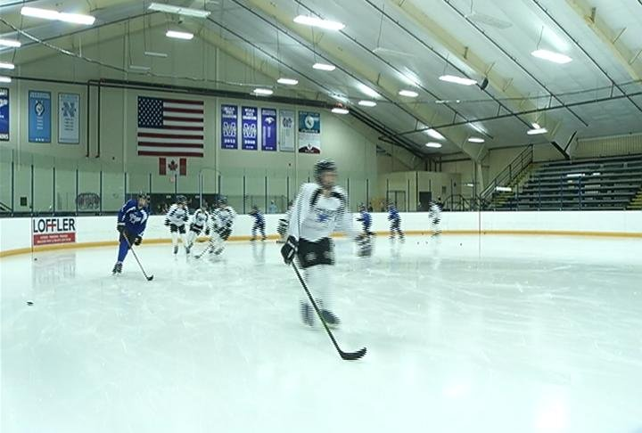 ECA Stars skate at Hobbs Ice Center, Tuesday