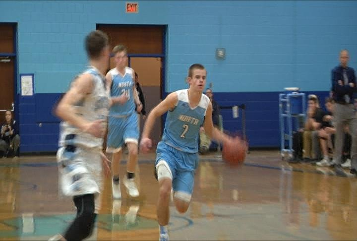 Jack Kron leads the break in EC North's win at Superior