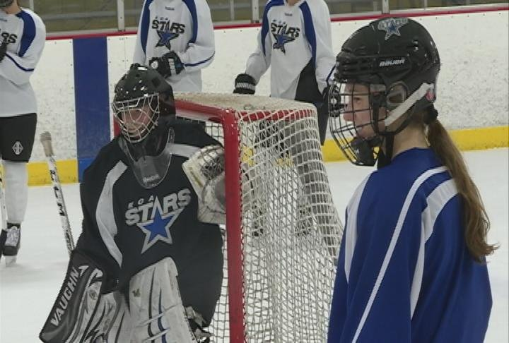 The Stow sisters during practice