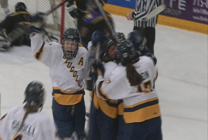 The Blugolds tie it late, and score the game winner in OT to earn their second WIAC win