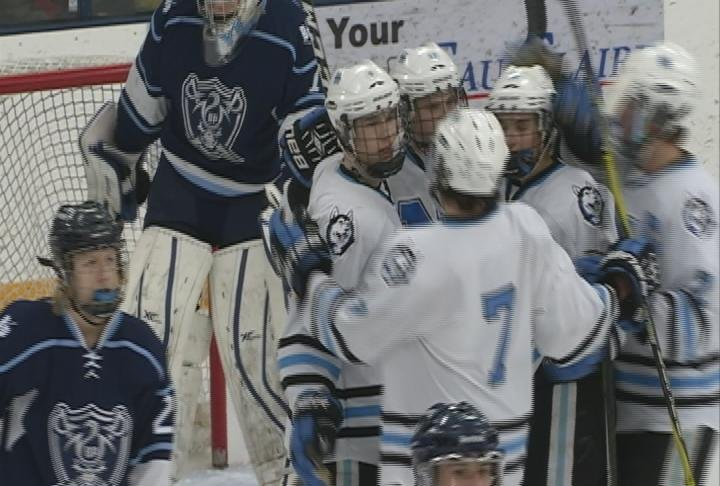Sam Stange notches as hat trick as the Huskies roll past Bay Port