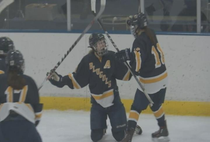 Mariah Czech scores the game winner, as the Blugolds sweep the Pointers