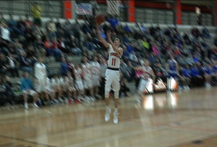 Ryan Myhers hits a layup as Osseo-Fairchild defeats McDonell Central