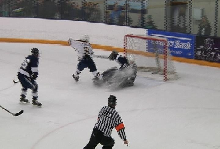 UWEC's Colton Wolter scores on a 2nd-period breakaway