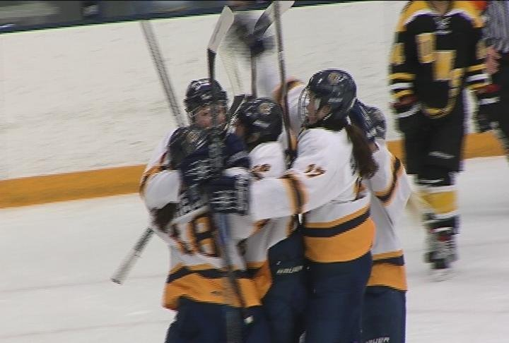 UWEC's women's team advances with a 7-2 win