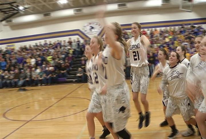 Durand celebrates a regional final win over Elk Mound
